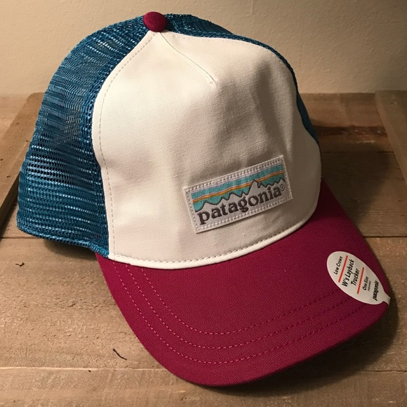 816a15e2 Patagonia Accessories | Pastel P6 Label Layback Trucker Hat | Poshmark